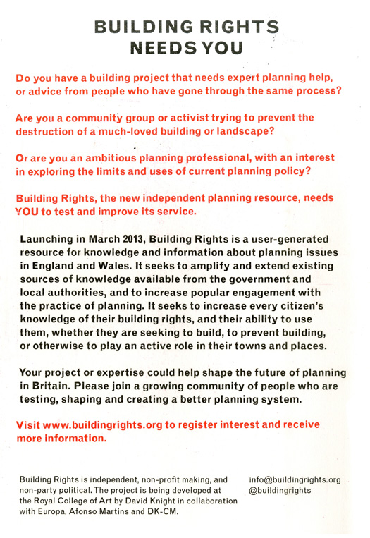 building rights needs you