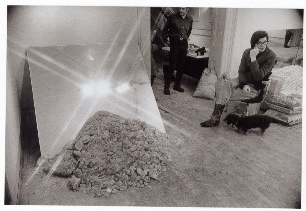 Robert Smithson, installation view, Cayuga Salt Mine Project exhibited at Cornell University, 1969